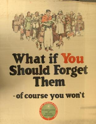 Poster, Federation Of Social Agencies