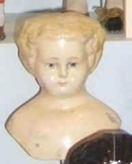 Yellow Shoulder Doll's Head With Yellow Hair (no Body)