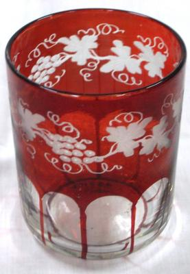 Tumbler, Bohemian Red Glass