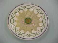 Martha Washington Style Tea Plate, 15 States Pattern