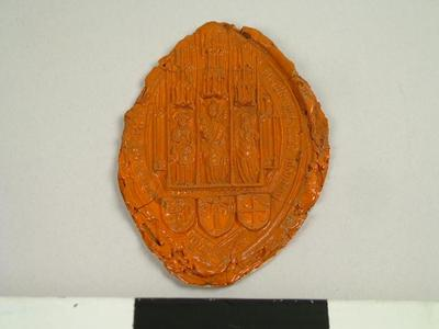 Seal, Impression Of The Seal Of Abbot Of Abingdon Abbey