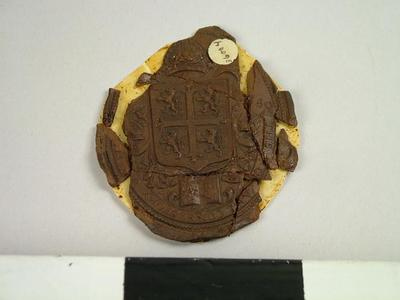 Seal, Impression Of The Seal Of Bishop Consistory Of Durham Court