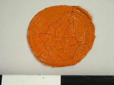 Seal, Impression Of The Seal Of Foklington School, Yorkshire