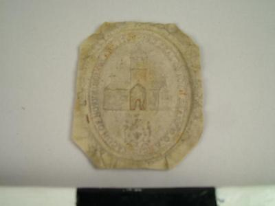 Seal, Impression Of The Seal Of John Shark, D.D. Archdeacon Of  Northumberland, 1762