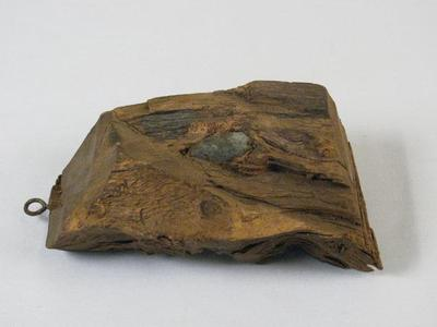 Wood Fragment With Embedded Bullet