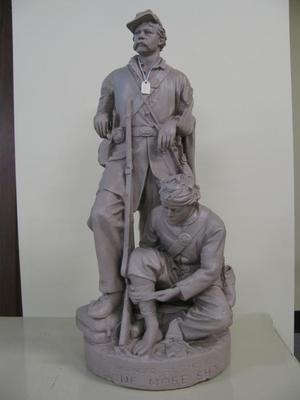 Statue, 'wounded To The Rear Or One More Shot'