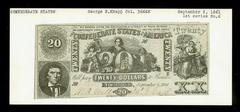 Confederate Currency, Twenty Dollar Note