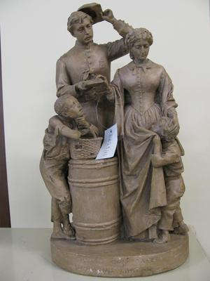 Statuette, Taking The Oath And Drawing Rations