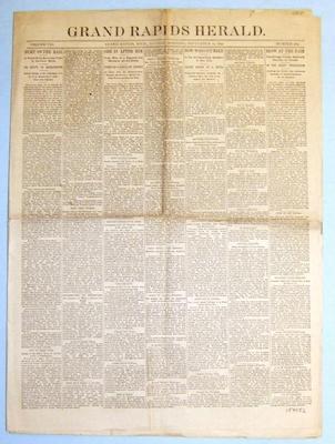 Newspaper, 'hurt On The Rail'