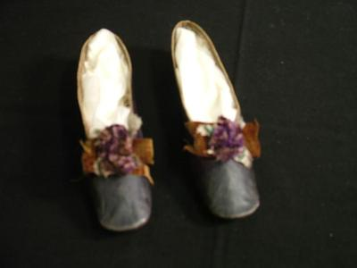 Shoes, Woman's Leather Slippers