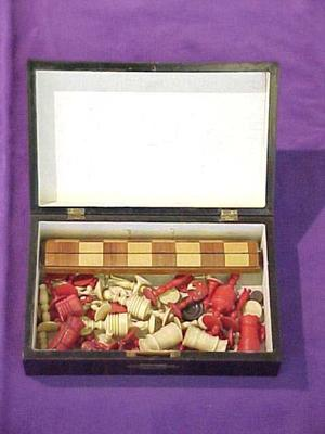 Chess And Checker Set In Box