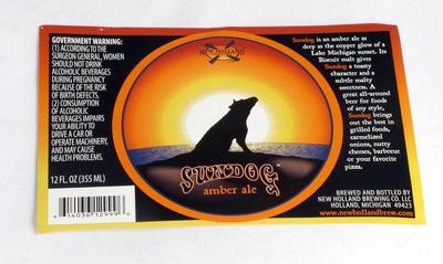 Label, New Holland Brewery Sundog