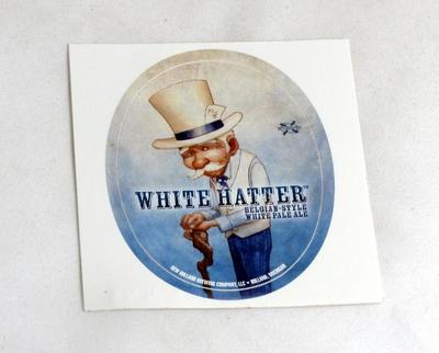 Sticker, New Holland Brewery White Hatter
