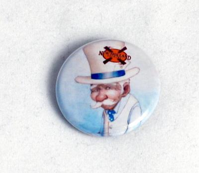 Pin-back Button, Blue