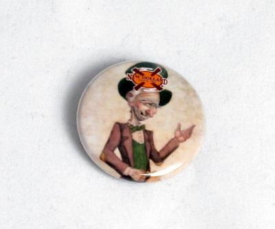 Pin-back Button, Grey