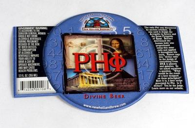 Label, New Holland Brewery Phi