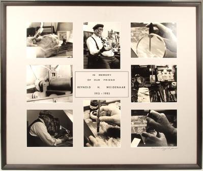 Photograph Panel, In Memory of Our Friend Reynold H. Weidenaar