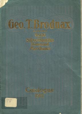 Trade Catalog, George T. Brodnax, Inc., Gold And Silversmiths,  Diamond Merchants