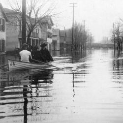 Photograph, Horse-drawn Wagon On Flooded Street