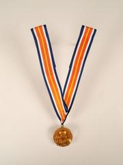 Gold Medal On Ribbon And  Citation, National Space Award, Vfw,  Roger B. Chaffee Archive Collection #6
