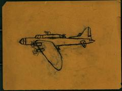 Crayon Drawing, Airplane, Roger B. Chaffee Archive Collection #6