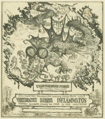 Print, 'Fossil Studies: III, Reptilia - State I' (1 Of 3)