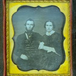 Cased Photograph, Mr. And Mrs. John Simonds