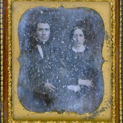Cased Photograph, Unidentified Man And Woman