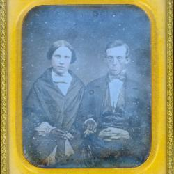 Cased Photograph, Miss Simonds' Aunt And Husband