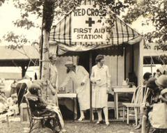 Photograph, Red Cross Station On Kiddie's Day At Ramona Park