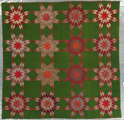 Pieced Quilt, Prairie Star