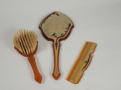 Dresser Set (hairbrush, Comb, Mirror - 3 Pcs.)