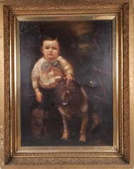 Painting, The Boy And The Dog