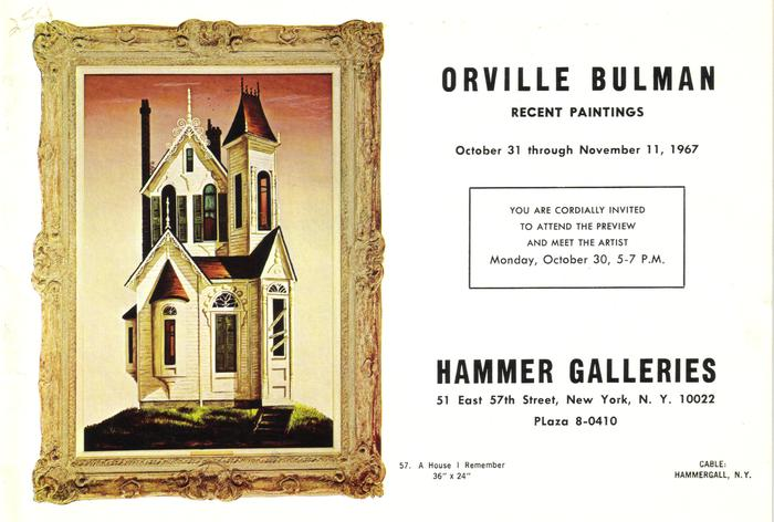 Booklet, Pictures Of Paintings By Orville Bulman Exhibited By The  Hammer Galleries In New York.