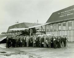 Photograph, Crowd Around Airplane