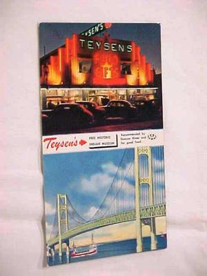 Postcard, Teysen's And The Mackinac Bridge