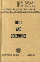 Booklet, 'drill And Ceremonies'