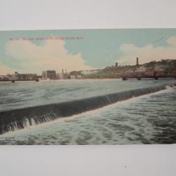 Photograph, River Workers, Pere Marquette Bridge