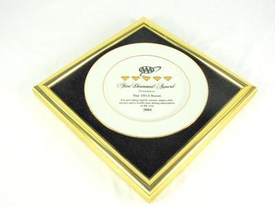 Five Diamond Award, The 1913 Room