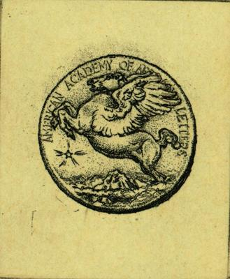 Print, 'american Academy Of Arts & Letters Medal - State Iii' (3  Of 4)