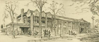 Print, 'arts And Crafts Building (central Michigan Engineering  College) - State Ii' (2 Of 3)