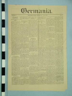 Newspaper, Germania, August 7, 1895
