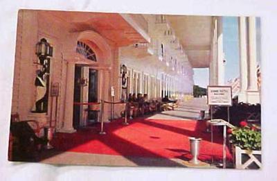 Postcard, Grand Hotel Porch, Mackinac Island, Michigan