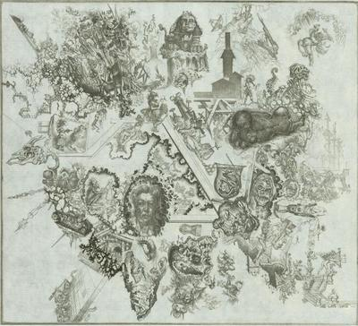 Print, 'King Solomon's Mine Fields (self-portrait) - State IV  (Final State) (Edition Of Two)'