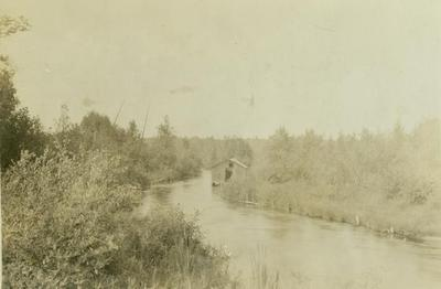 Photograph, Cabin on a River