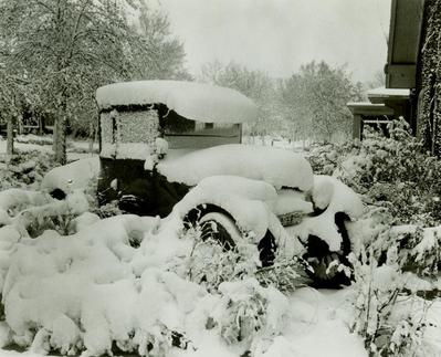 Photograph, Automobile Covered In Snow