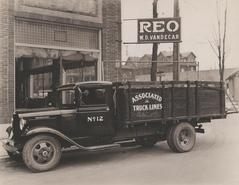 Photograph, REO W.D. Vandecar and Truck