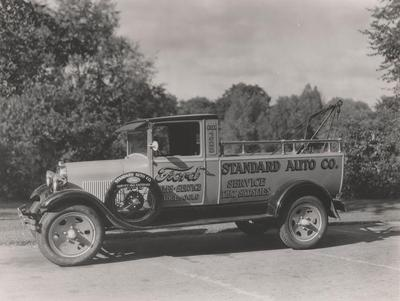 Photograph, Standard Auto Company Tow Truck