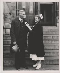 Photograph, Mayor William Timmers with Nurse Lillian Huisken