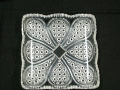Square Plate, Clear,  Austrian Pattern